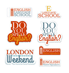 English Language School vector