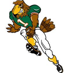 Falcon sports football logo mascot vector