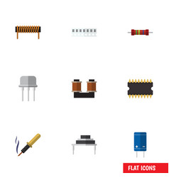Flat icon electronics set of destination resist vector