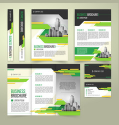 Flyer cover design business brochure and vector