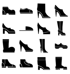 Footwear icons set simple style vector