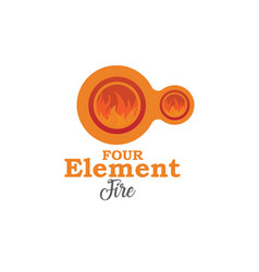 four element fire vector image