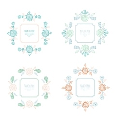 frame for text with flowers vector image