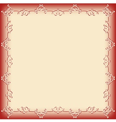 frame pattern red vector image