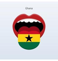Ghana language Abstract human tongue vector