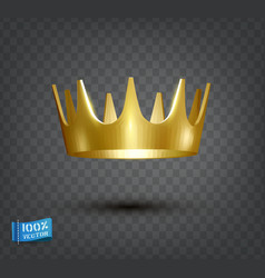 golden antique crown realistic object isolated vector image