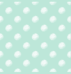 green and white polka dot seamless pattern vector image