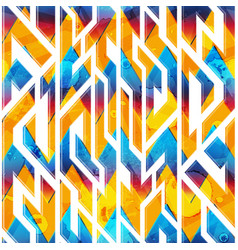 grunge geometric pattern vector image
