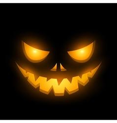 Halloween scary illuminated face in dark vector