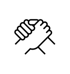 Handshake business partners human greeting arm vector