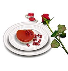 heart shape dessert realistic sweet vector image