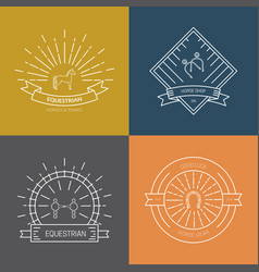 Horse emblem options vector