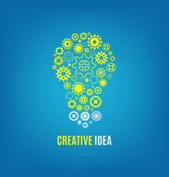 Innovation creative idea concept with vector