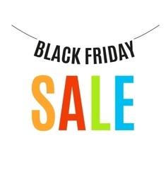 Isolated colorful black friday announcement logo vector