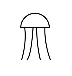 jellyfish icon vector image