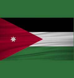 Jordan flag flag of blowig in the wind vector
