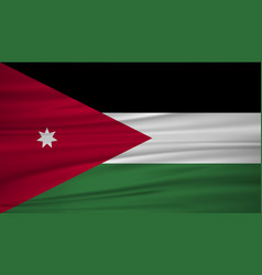 jordan flag flag of jordan blowig in the wind vector image