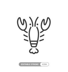 Lobster animal icon vector