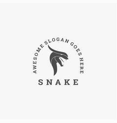 logo snake vintage badge style vector image