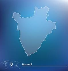 Map of Burundi vector image