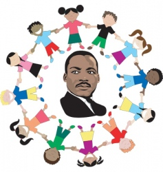 Martin luther king kids vector