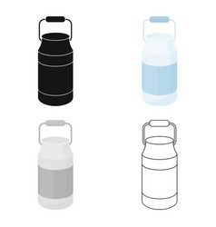 milk cans icon cartoon single bio eco organic vector image