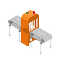 Modern production line isometric 3d icon vector