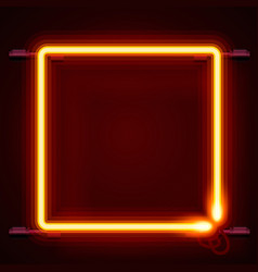 neon frame sign in the shape of a square vector image