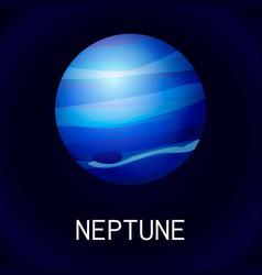 neptune planet icon cartoon style vector image