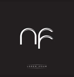 Nf initial letter split lowercase logo modern vector