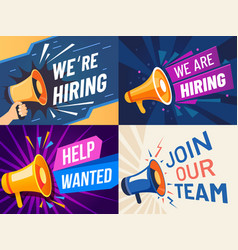 now hiring banner we are hiring join our team vector image