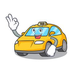 Okay taxi character cartoon style vector