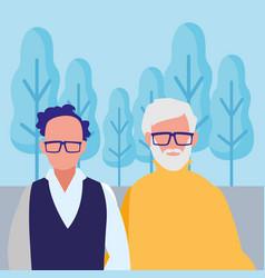 Old men design vector