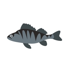 Perch icon flat style vector