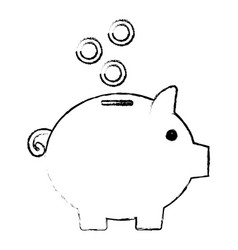 Piggy bank money vector
