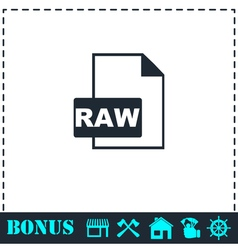 Raw icon flat vector