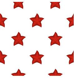 red starfish pattern flat vector image