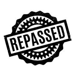 Repassed rubber stamp vector