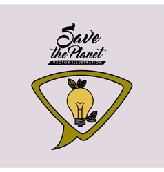 save the planet design vector image