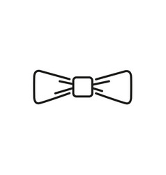 simple bowtie thin line icon design vector image
