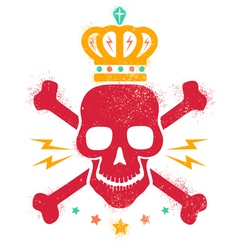 skull blood red paint vector image vector image
