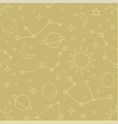 Space pattern seamless design graphic vector