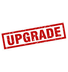 square grunge red upgrade stamp vector image