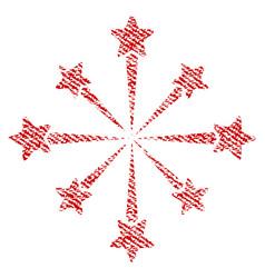 Star burst fireworks fabric textured icon vector