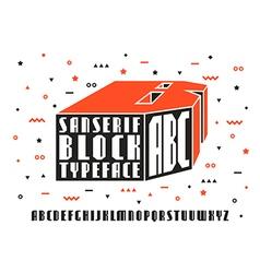 Stock set of sanserif font vector image