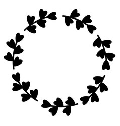 summer flowers frame round hand drawn wreath vector image