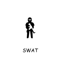 Swat flat icon vector
