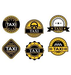 Taxi service symbols vector image