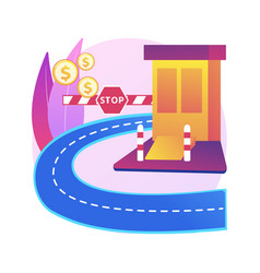 toll road abstract concept vector image
