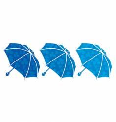 tree umbrellas vector image